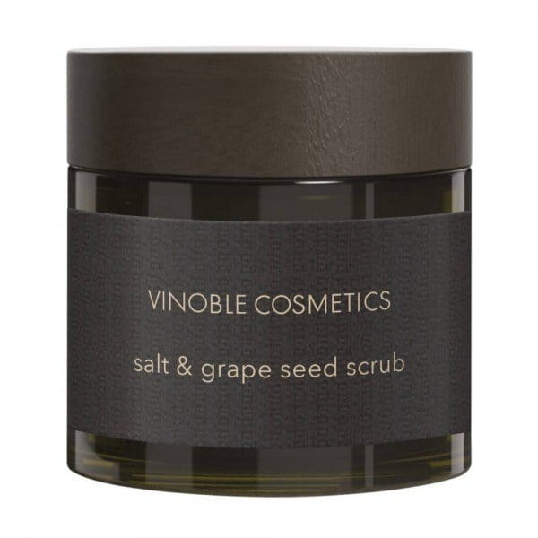 salt & grape seed scrub von Vinoble Cosmetics
