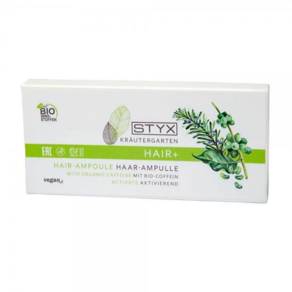 Kräutergarten BASIC Haar-Ampullen mit Bio-Coffein von STYX
